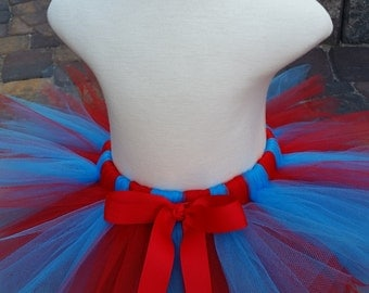 Turquoise and Red Tutu