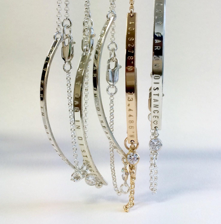 18th Birthday Cz T Bar Sterling Silver Heart Bracelet Can: Birthstone Bracelet / Diamond Nameplate / Bridesmaid Jewelry