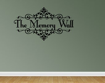 The Memory Wall Wall Decals The Memory Wall Vinyl Wall Decal Lettering Quotes (JN81)