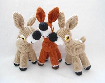 Baby deer crochet pattern