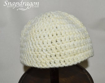 Plain pale lemon yellow newborn baby hat