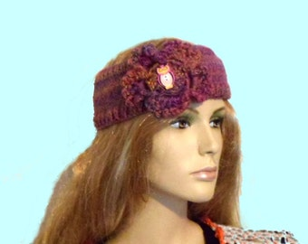 Hippie Headband Knitting Pattern : Headgear knitting Etsy