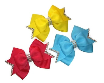 Layered Flat Boutique Bow, SImple Hair Bow, Hair Accessories. Ribbon Hair Bow, Boutique Hair Bow, Small Hair Bow