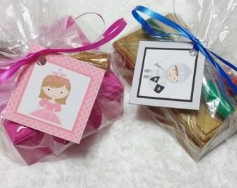 PARTY PACK Princess Jewelry Box  & Knight Treasure Chest Craft Kits (Mix and Match)