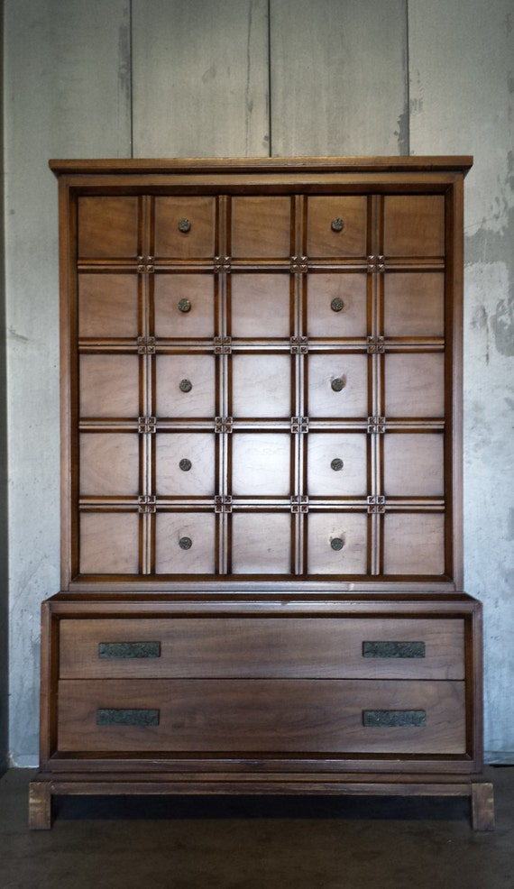 High Quality Mcm Solid Wood Dresser Chest Of By Vintagerescues