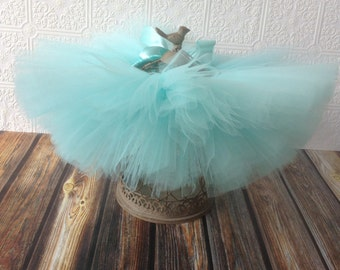 Aqua {Tutu} baby girl tutu skirt || newborn tutu || flower girl tutu || birthday tutu || photo prop || nb-24 months