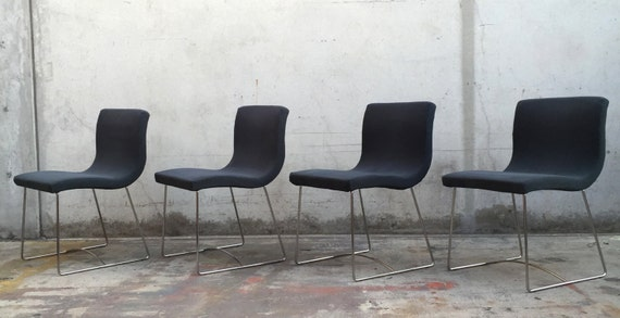 items similar to sold set of 4 ligne roset sala chairs designed by pascal mourgue on etsy. Black Bedroom Furniture Sets. Home Design Ideas