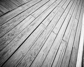 Beach Boardwalk -  Photography - Ocean City, NJ -  Black and White