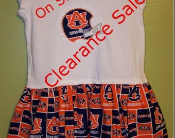 Girl's Auburn University dress size 4/5 ready to ship Last One!