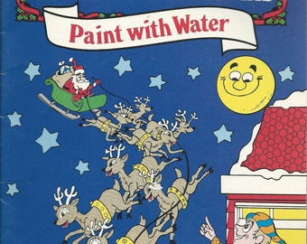 vintage 1987 paint with water coloring book twas the night before christmas creative