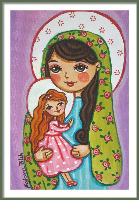 St Anne Print from Under Angels Wings