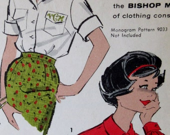 Vintage 1950s Advance 9183  Pattern Teen and Junior Button Up Blouse Size 13 Bust 33 Bishop Method ** Epsteam