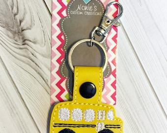 School Bus Keychain - Bus Driver Keychain - School Keychain - Yellow Bus Keychain - Bus Driver Gift - Teacher Gift