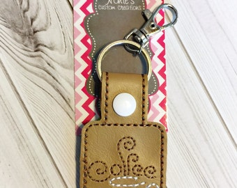 Coffee Cup Keychain - Coffee Keychain - Coffee Cup Key Chain - Coffee Key Chain - Coffee Fan - Coffee Lover