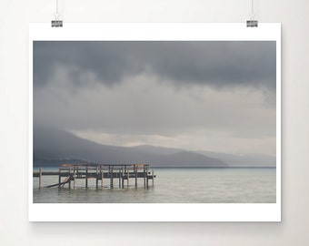 lake tahoe photograph mountains photograph california photograph pier photograph storm photograph california art landscape photograph