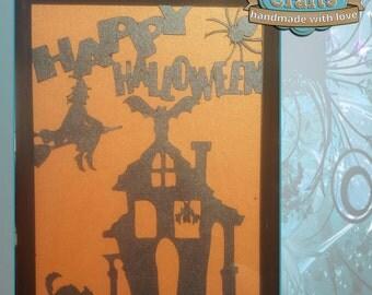 Framed Halloween Papercut