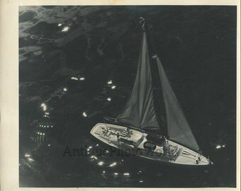 Toy sail boat yacht ship antique art photo