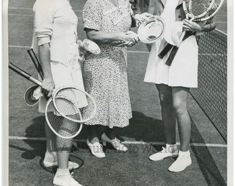Women tennis players Helen Pedersen antique sport photo