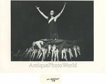 Russian ballet star Pavlova in Spartacus vintage photo