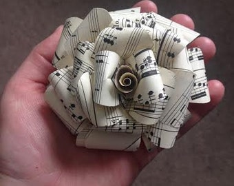 Sheet Music Flowers - 4 inches