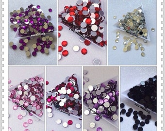 7mm rhinestones - 200 pieces -you choose the color - U.S. SELLER, flatback, diy, bling