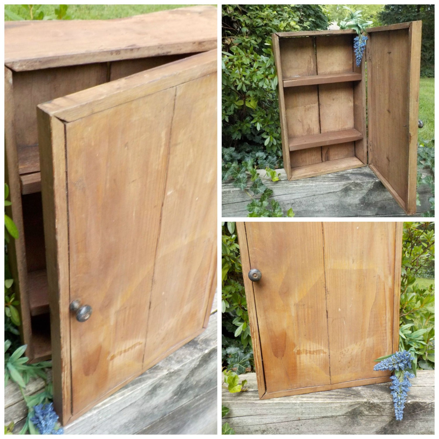 Primitive wooden wall cabinet jelly cupboard by