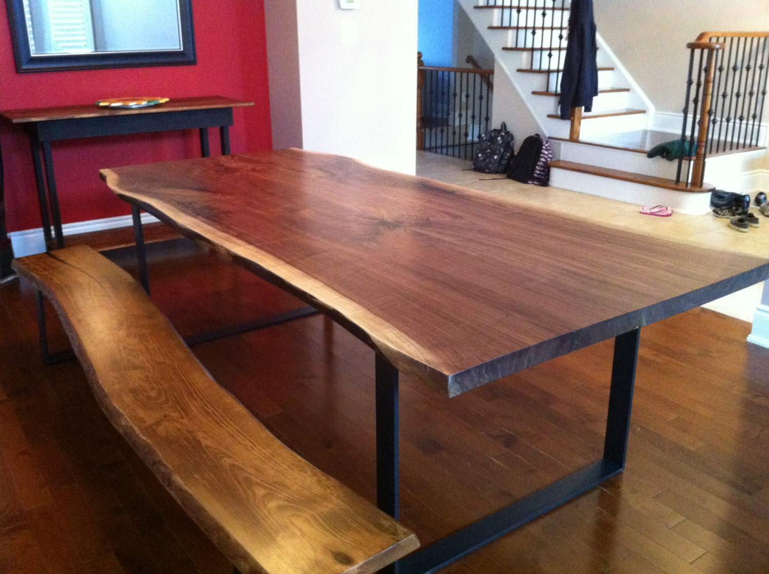 live edge table dining room table wood slab tables live edge. Black Bedroom Furniture Sets. Home Design Ideas