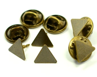 120 Pieces Triangular 10x10x10 mm Tie Tack Clutch Pin Findings