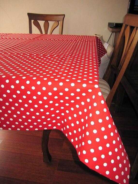 Description. Green Polka Dot Tablecloth ...