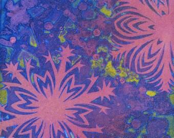 pink snowflake etching