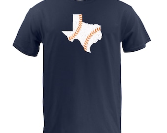 Texas Baseball (White/Orange) - Navy