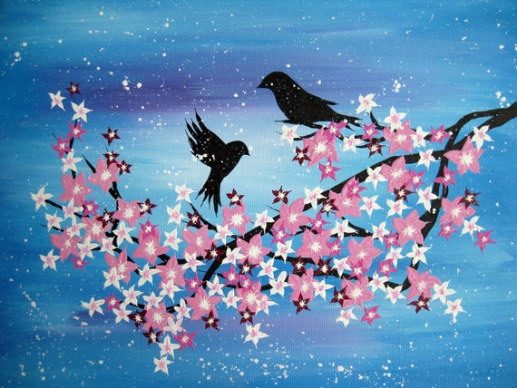 Japanese Art Cherry Blossom Paintings Made In Australia