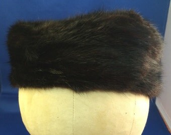 The May Co. Vintage Mink Pill Box Hat