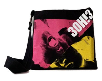 3OH!3 Bag • Upcycled T-shirt Purse • Crossbody Bag • 3OH!3 Tshirt Bag •