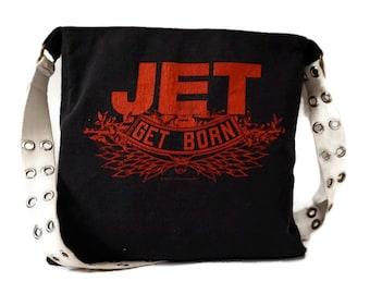 Jet Bag • Upcycled T-shirt Purse • Get Born • Shoulder Bag • Jet Band Tshirt Bag • Jet Gift