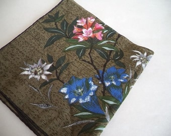 Dark Oriental Floral Handkerchief