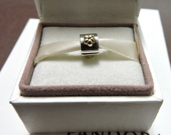 Pandora Sterling Silver and 14 ct. Gold Buttercup Clip