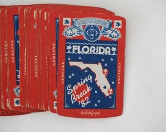 Spring Break Florida 1982 80s Vintage Playing Cards