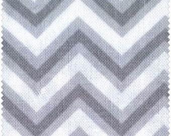 Grey (Gray)/ White Small Chevron by Henry Glass - Yardage