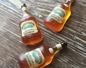 100% Edible Isomalt Mini Rum Appleton Estate Styled Bottle Cupcake Topper with Custom Edible Labels