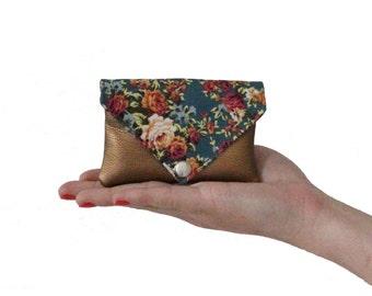 little purse with press button copper