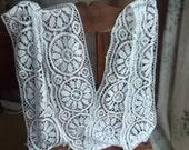 Antique Vintage Handmade Bedfordshire Lace Altar Church Vestment Cloth