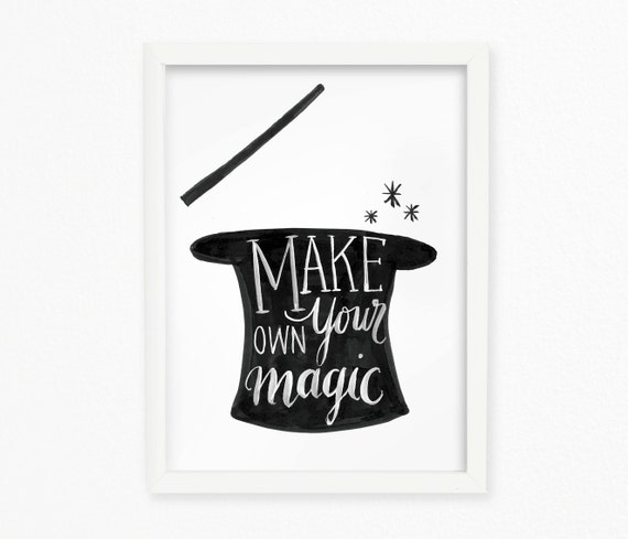 Wall Art Quotes Create Your Own : Make your own magic inspirational quote printable wall art
