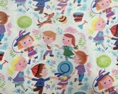 Vintage Gift Wrapping Paper - A Delightful Game of Ring Around the Rosy - Mid Century Juvenile Gift Wrap - 1 Unused Full Sheet