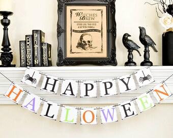 Décor d'Halloween, Halloween bannière, Trick or Treat, Happy Halloween, Halloween accessoires