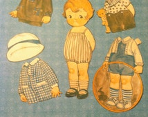 Early 1920's Dolly Dingle Cutouts Paper Dolls Luciana Dingle #3 with Original Outfits from issue of Pictorial Review