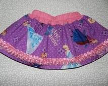 Sisters forever. Elsa and Anna skirt. Girls skirt, Toddler skirt. Children clothing.Frozen skirt,  12 m. 18m. 2t, 3t, 4, 5, 6.7,8,9