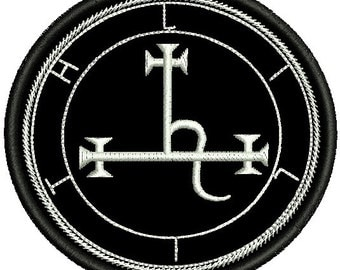 Sigil of lilith embroidered patch occult magick lucifer sumerian demon goddess fire