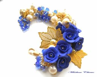 Bracelete polymer roses