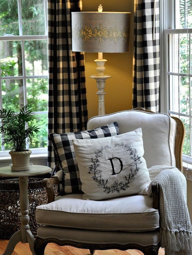 Buffalo Check Curtains in Black And White 2 by  : ilfullxfull821462493c1mx from www.etsy.com size 646 x 857 jpeg 152kB